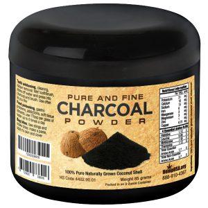 charcoal powder mockup